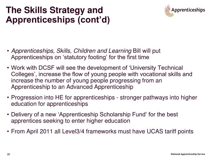 The Skills Strategy and