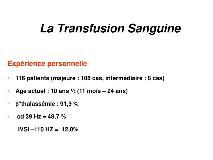 La Transfusion Sanguine