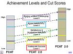 achievement levels and cut scores1