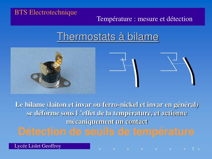 Thermostats bilame