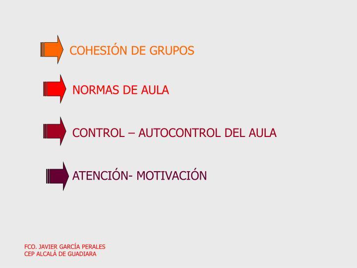 COHESIÓN DE GRUPOS