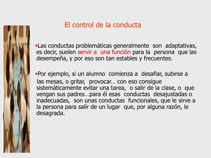 El control de la conducta
