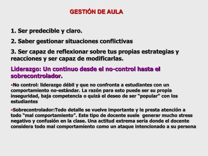 GESTIÓN DE AULA