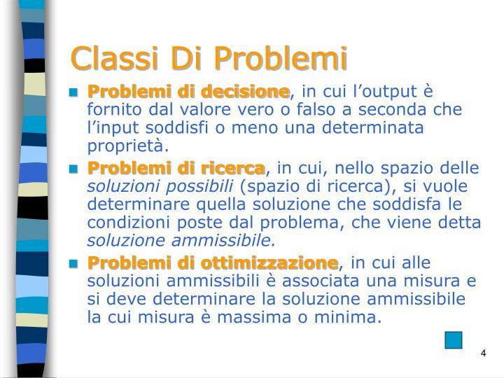 Classi Di Problemi
