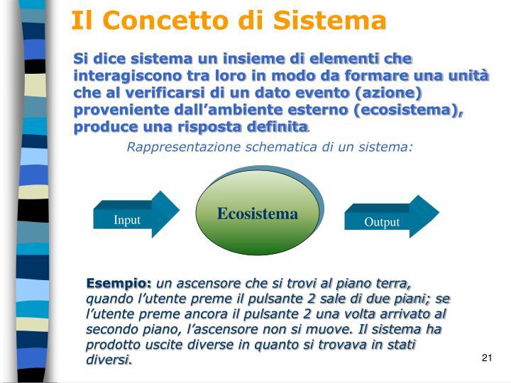 Il Concetto di Sistema
