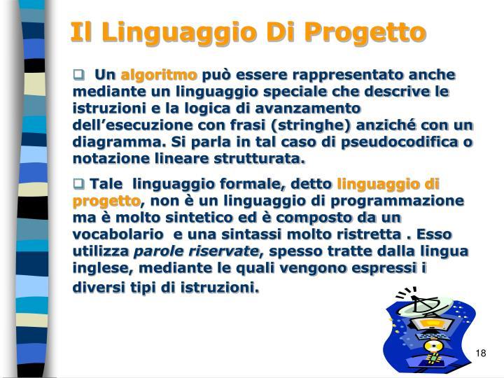Il Linguaggio Di Progetto