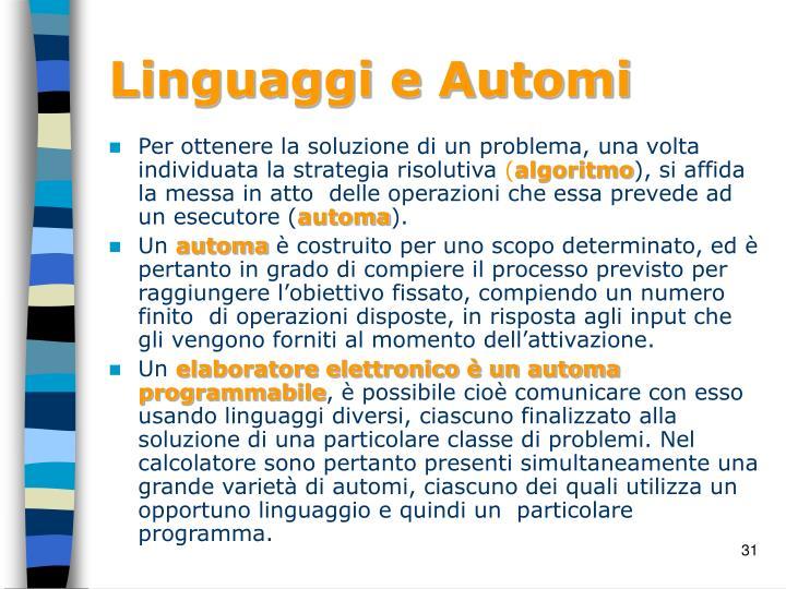 Linguaggi e Automi