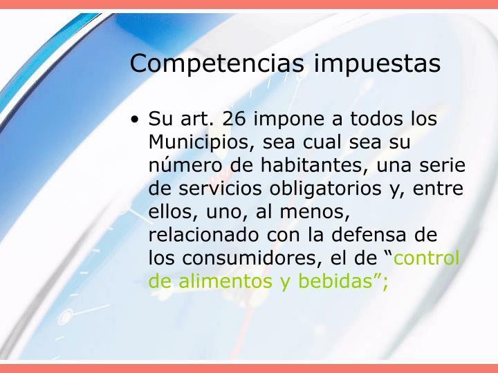 Competencias impuestas