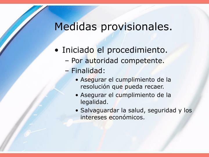 Medidas provisionales.