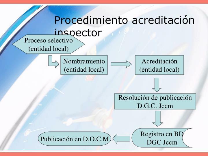 Procedimiento acreditación inspector