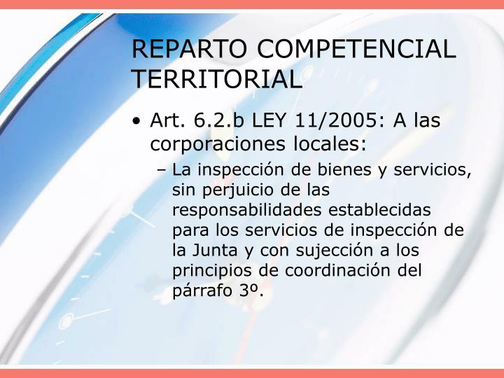 REPARTO COMPETENCIAL TERRITORIAL