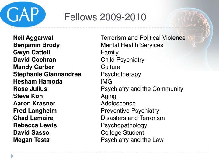 Fellows 2009-2010