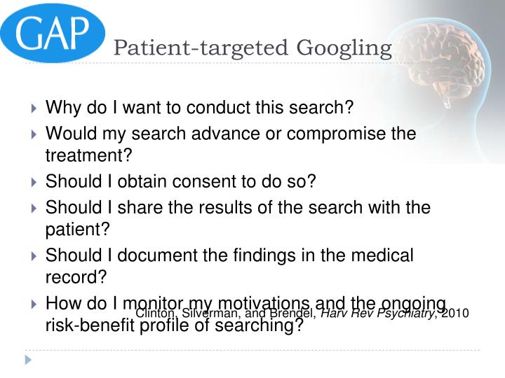 Patient-targeted Googling