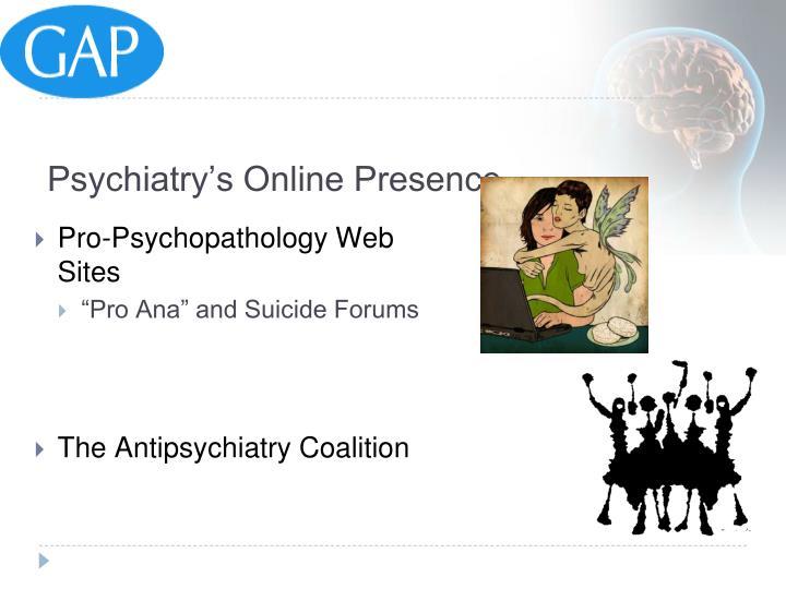 Psychiatry's Online Presence