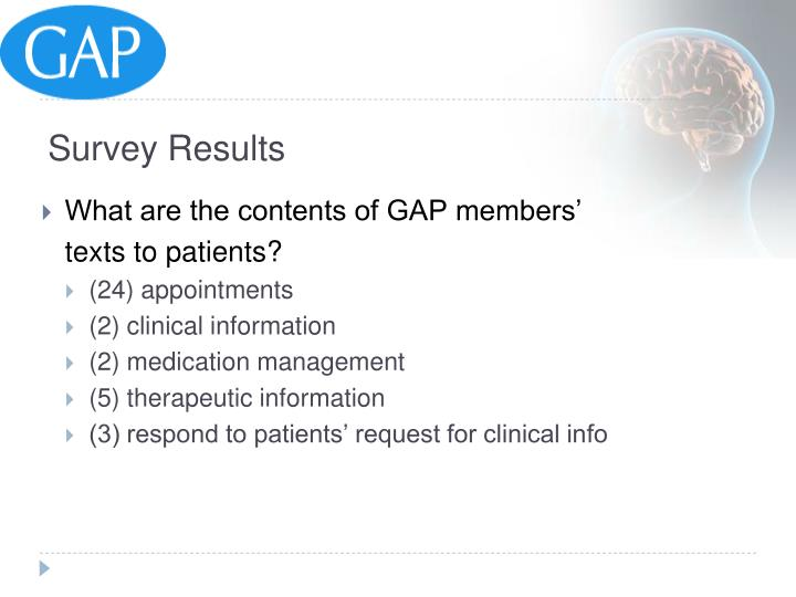 What are the contents of GAP members'