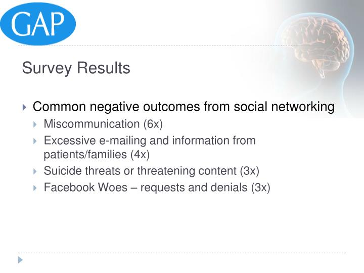 Common negative outcomes from social networking