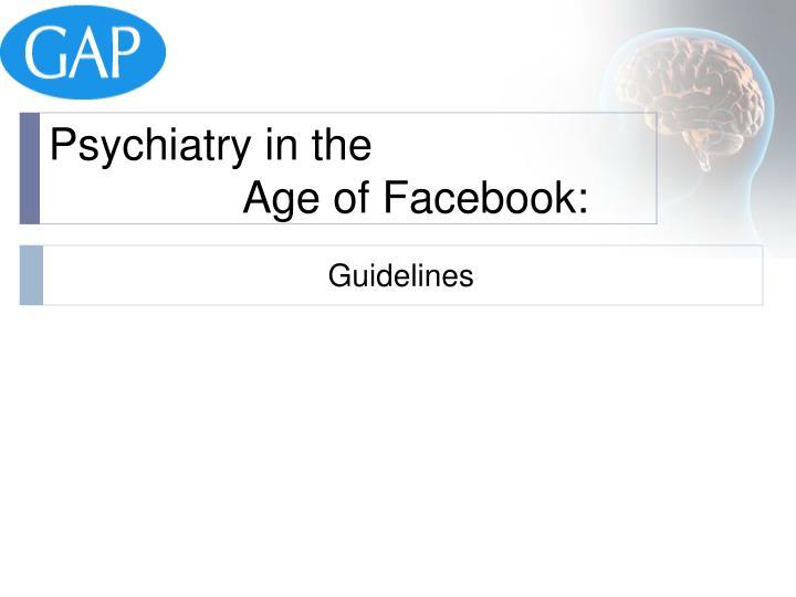 Psychiatry in the