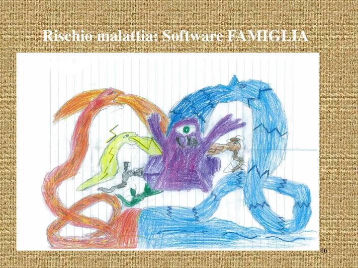 Rischio malattia: Software FAMIGLIA