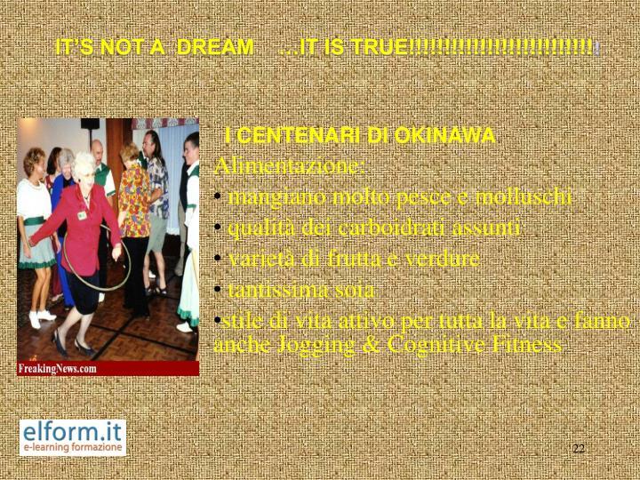 IT'S NOT A  DREAM    …IT IS TRUE!!!!!!!!!!!!!!!!!!!!!!!!!!