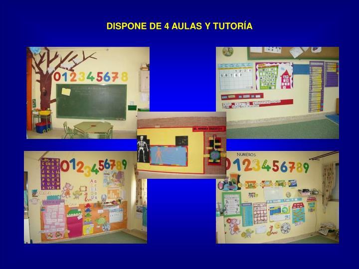 DISPONE DE 4 AULAS Y TUTORÍA