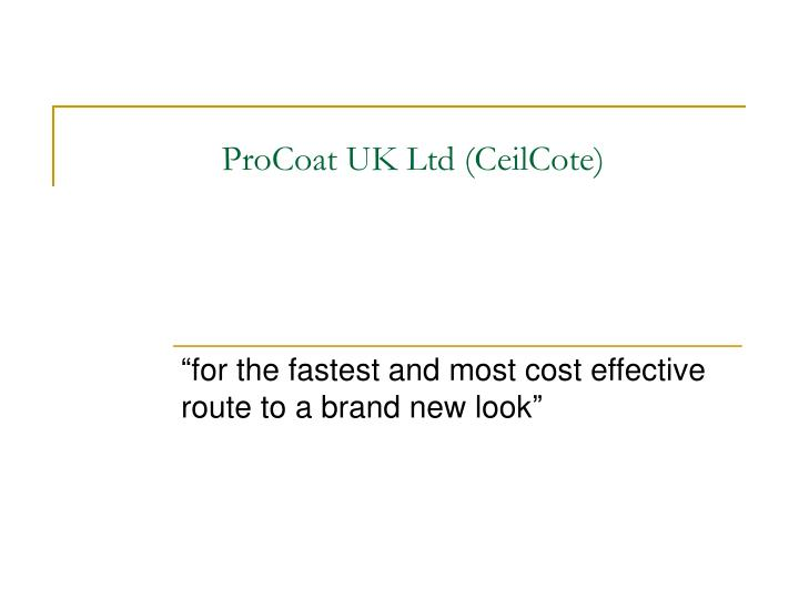 procoat uk ltd ceilcote n.