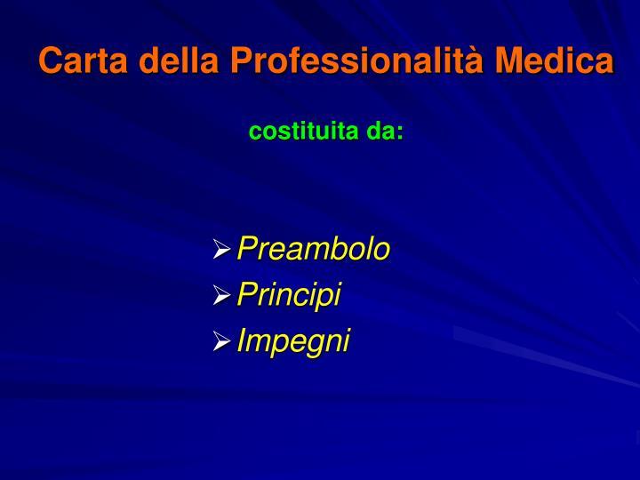 Carta della Professionalità Medica