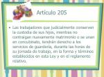 art culo 205