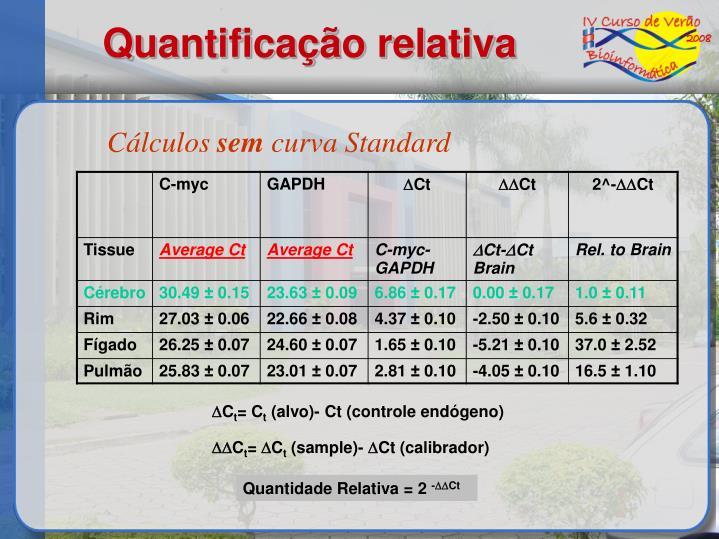 Quantificação relativa