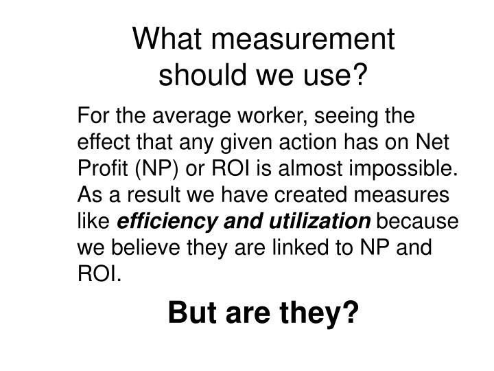 What measurement