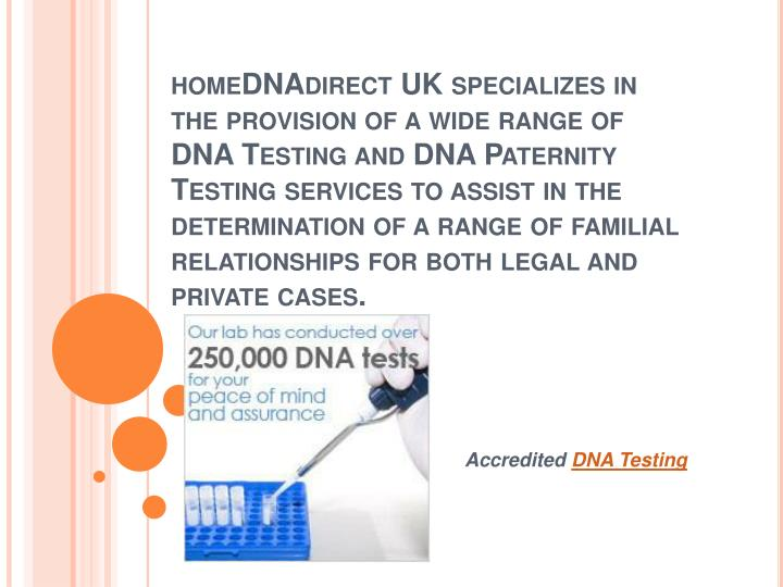 Accredited dna testing