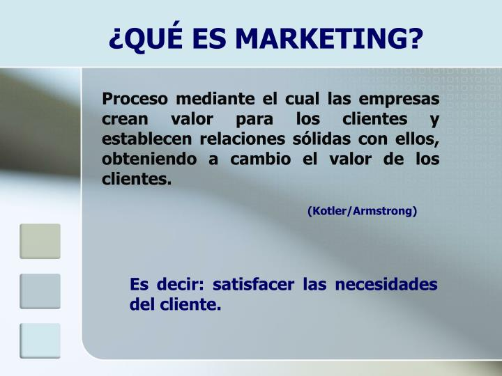 ¿QUÉ ES MARKETING?