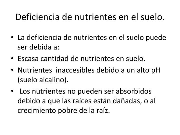 PPT - SÍNTOMAS VISUALES DE DEFICIENCIA DE NUTRIENTES EN PLANTA ...