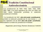 tradici n constitucional antireeleccionista