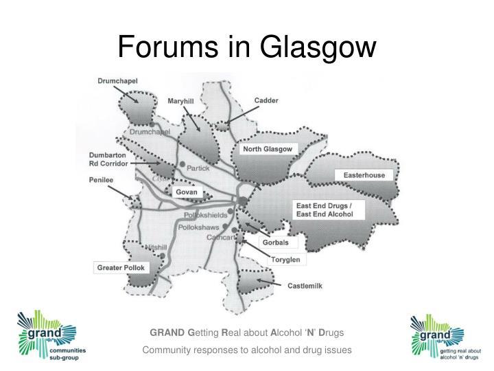 Forums in Glasgow