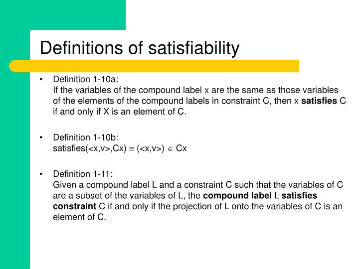 Definitions of satisfiability
