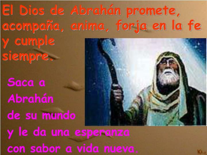 El Dios de Abrahán promete, acompaña, anima, forja en la fe y cumple
