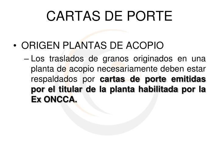 CARTAS DE PORTE