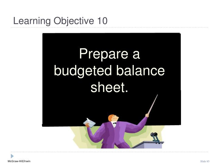 Learning Objective 10