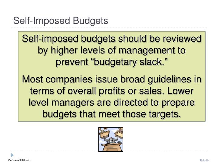 Self-Imposed Budgets