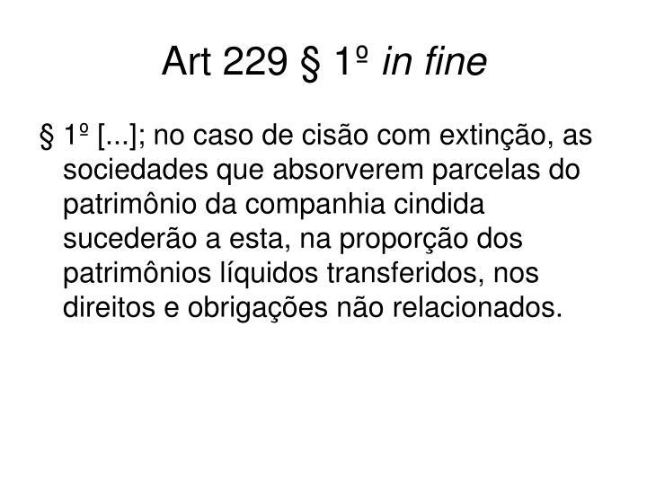 Art 229 § 1º