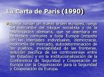 la carta de paris 1990