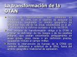 la transformaci n de la otan