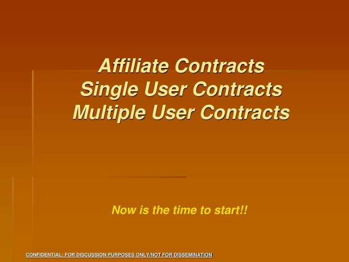 Affiliate Contracts