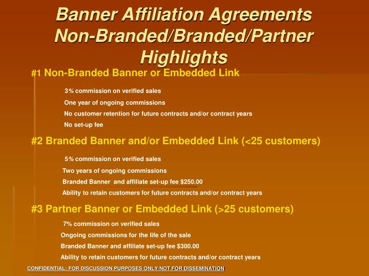 Banner Affiliation Agreements