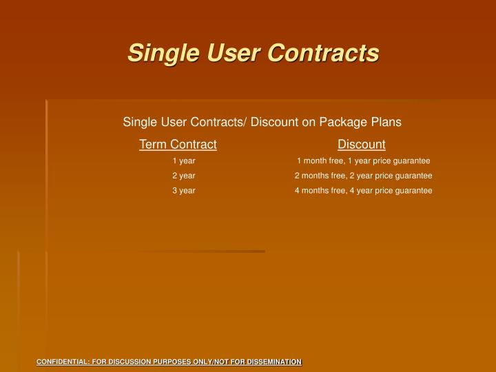 Single User Contracts
