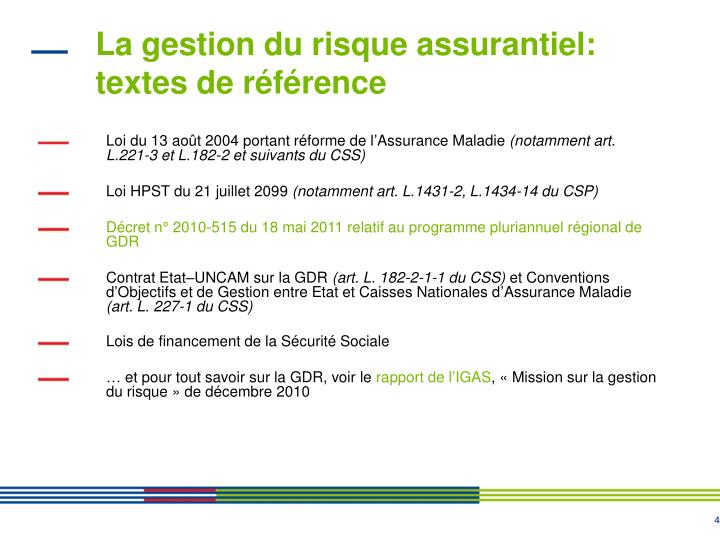 La gestion du risque assurantiel: textes de référence