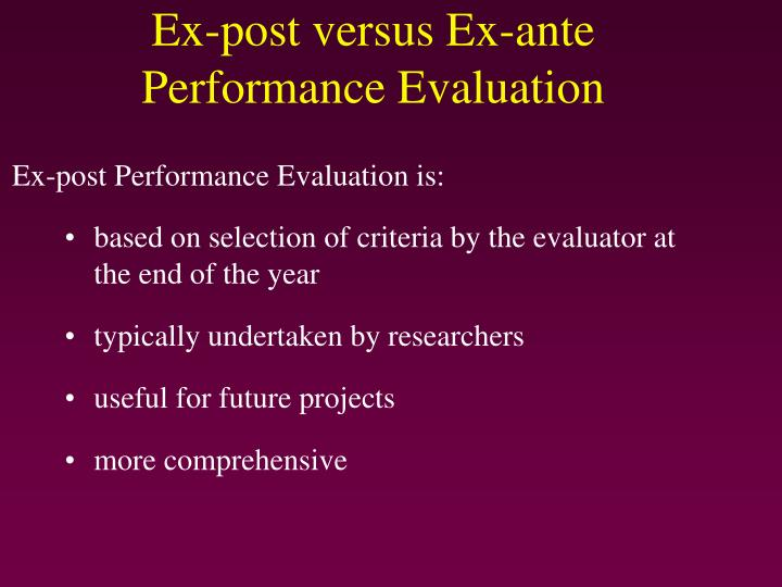 based on selection of criteria by the evaluator at the end of the year
