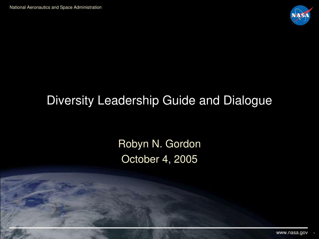 diversity leadership guide and dialogue l.