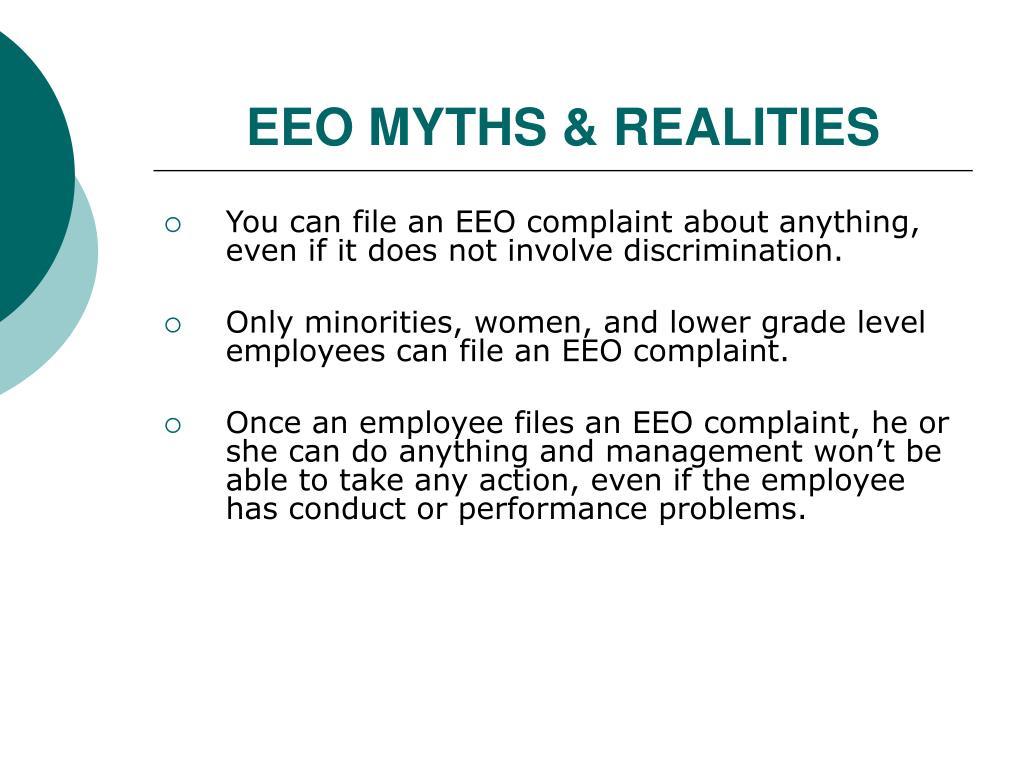 EEO MYTHS & REALITIES