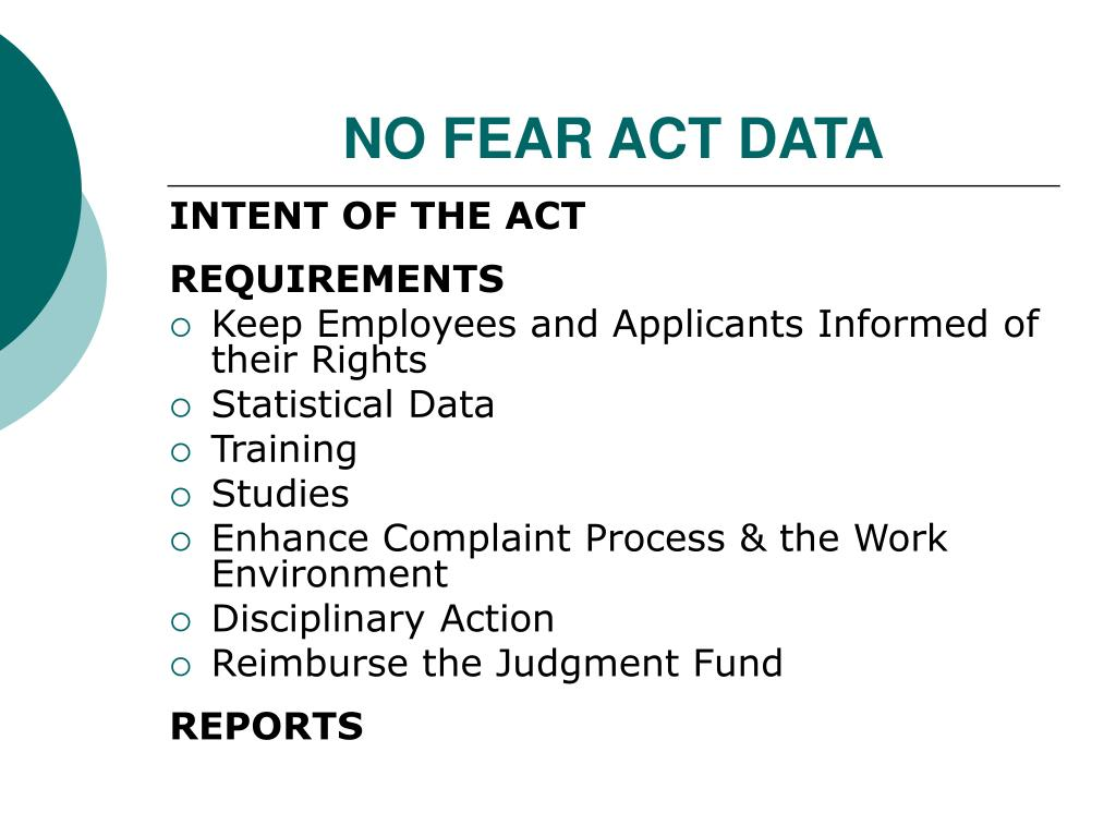 NO FEAR ACT DATA